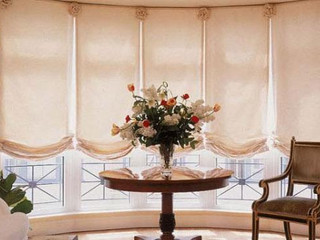 Carol's Roman Shades... a new way to design your windows! Available at Clifton Carpets!