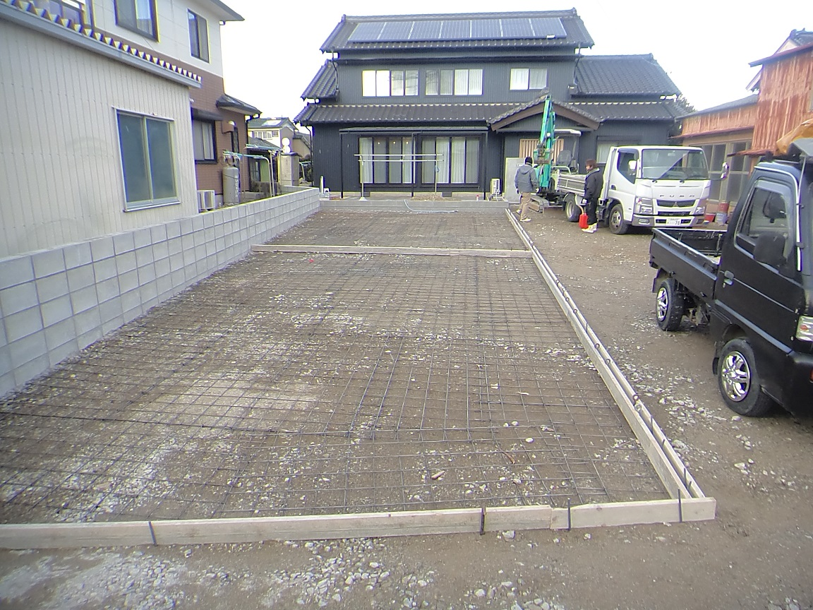 土間コンクリート型枠完了