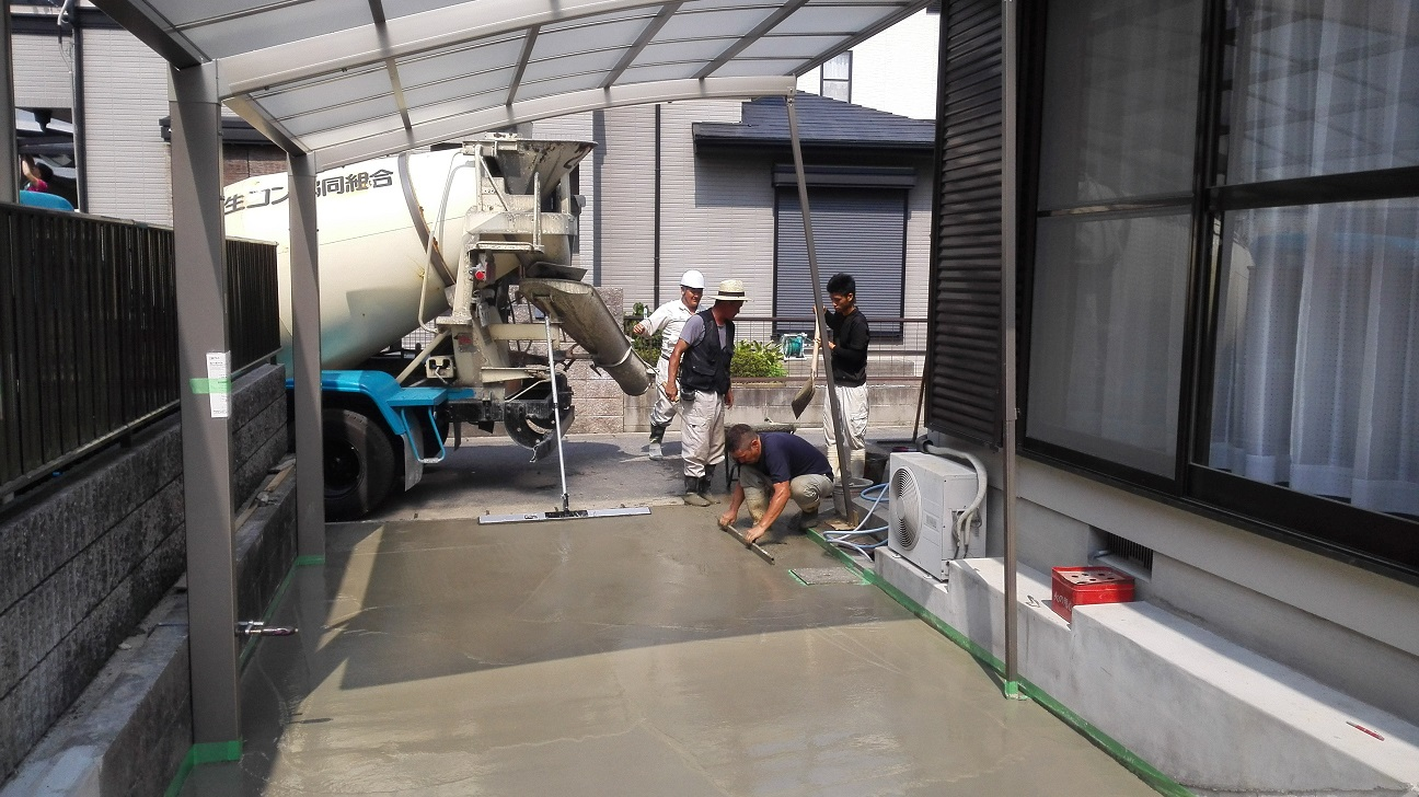 洗出しコンクリート打設