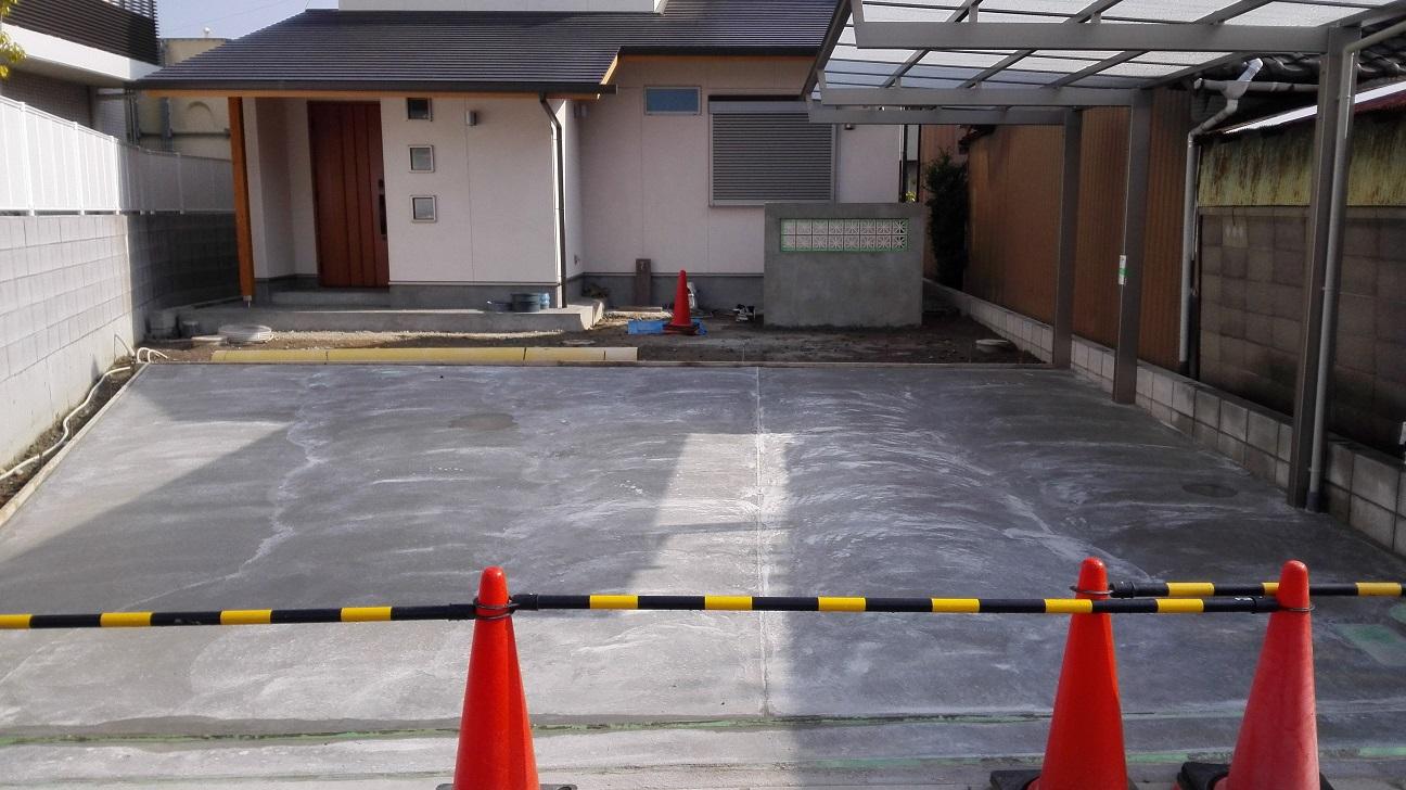 土間コンクリート完成