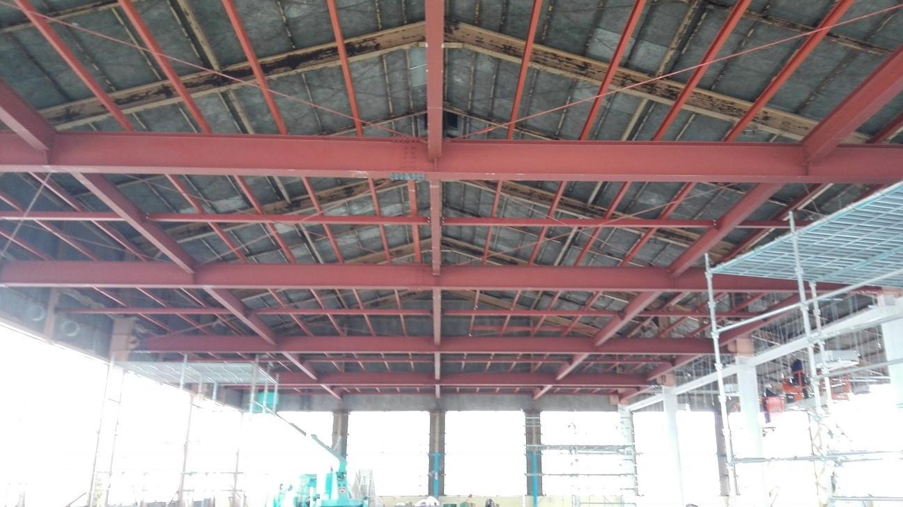 天井 鉄骨施工完了