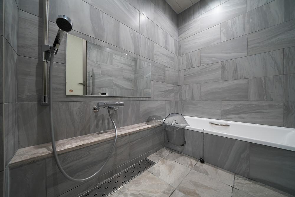 左官の作る浴槽