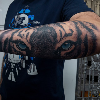 tiger eyes by the crooked rook tattoo.jp