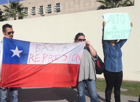 Protestó Uni Unida en solidarización con Chile, Ecuador, Haití y Colombia