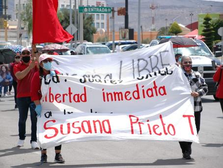 Marchan para exigir la liberación de Susana Prieto
