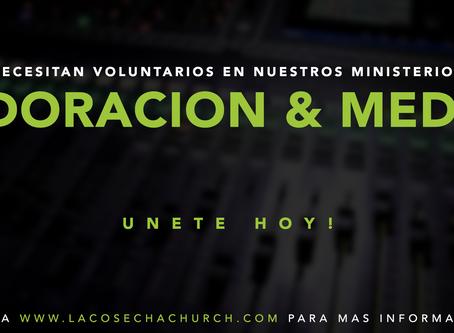 Voluntarios necesitados | Volunteers Needed