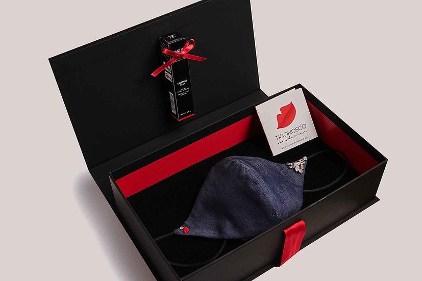 Gift Box Mascherina Jeans e Mascara Make Up For Ever