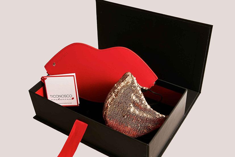 Gift Box Borsa Sorriso e Mascherina di Paillettes