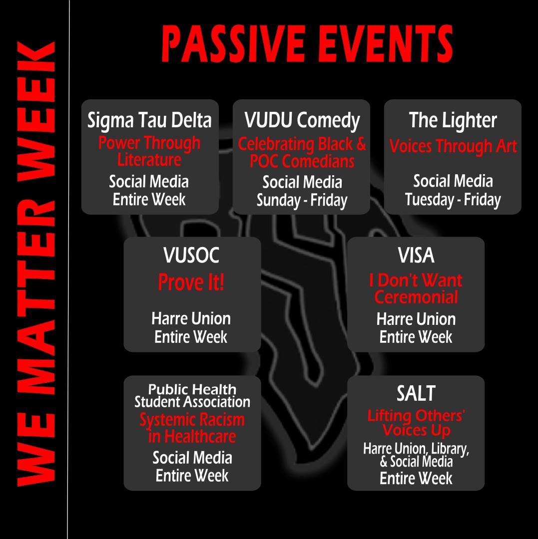 We Matter Week Calendar passive events.p
