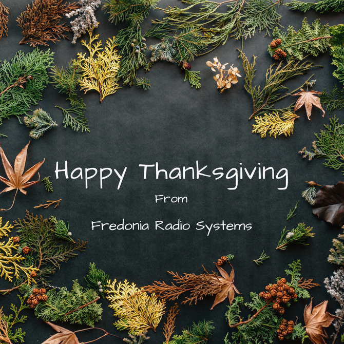 Happy Thanksgiving from FRS