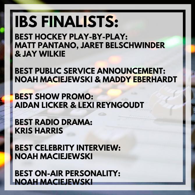 Intercollegiate Broadcasting System Finalists