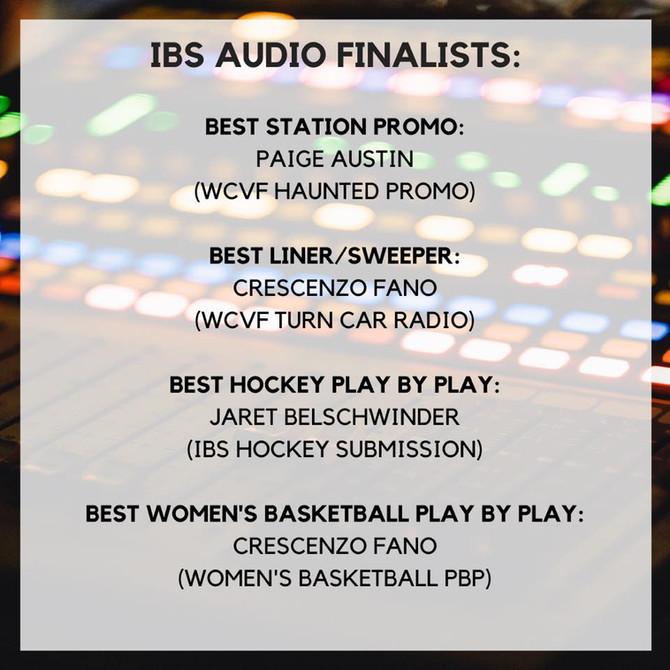 IBS Audio Finalists