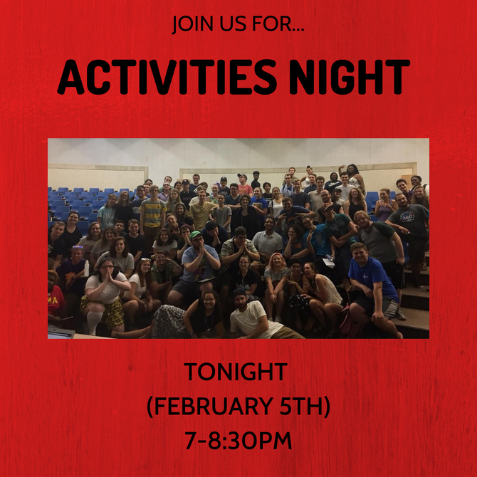 Come to Activities Night!