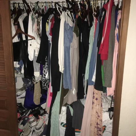 Organización de closet (Antes)