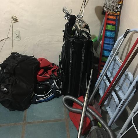 Organización de cuarto de lavado (Antes)