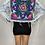 """Thumbnail: """"Blue Pinwheel Leopard"""" Denim Jacket"""