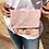 Thumbnail: Reversible Pink Suede/Ankara Clutch