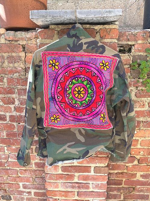 """Pink Pinwheel"" Camo Jacket"