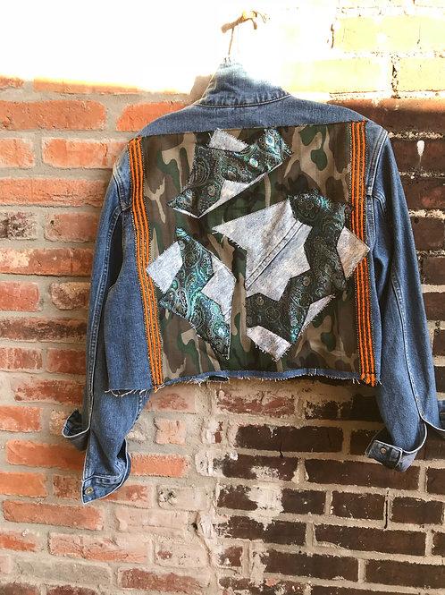 """Cracked Glass"" Denim Jacket"