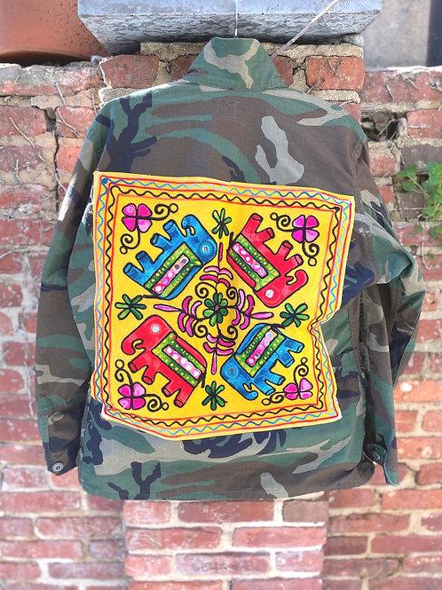 """""""Yellow 4 Elephant"""" Camo Jacket"""