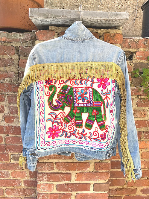 """White Elephant"" Denim Jacket"