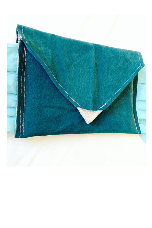 Hunter Green Suede Clutch