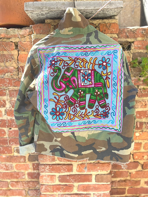 """Blue Elephant"" Camo Jacket"