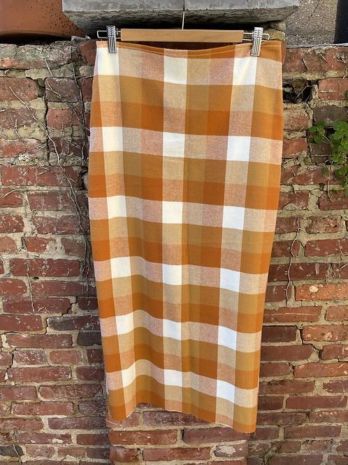 MelliBelli Handmade Plaid Skirt (Amber)