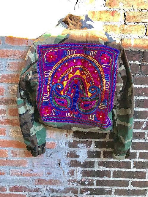 """Purple Peacock"" Camo Jacket"