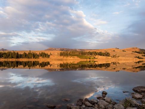 Reflections in Swan Lake, Yellowstone Na
