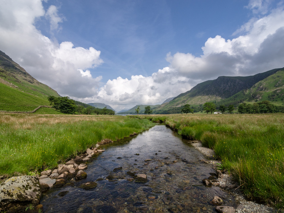 The stream to Buttermere Lake, Cumbria