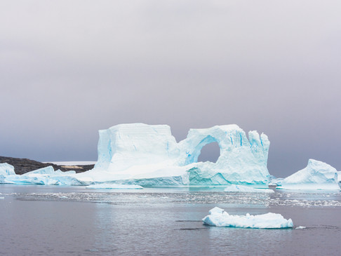 Holed iceberg, Antarctica