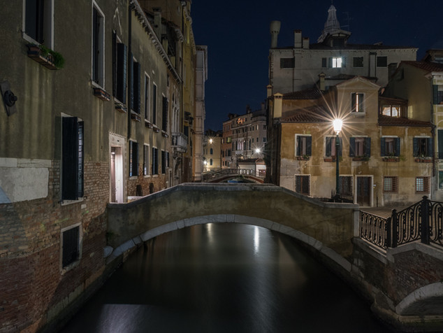 Night falls in Venice