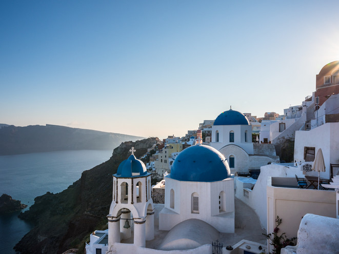 The blue rooves of Santorini