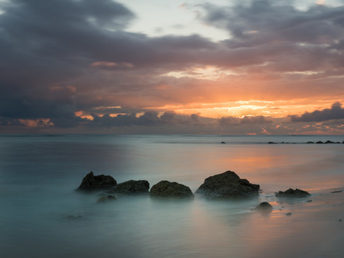 Misty waters at sunrise, Cayman Brac