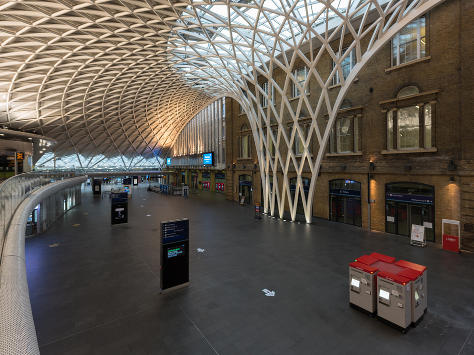 Kings Cross Station, empty during Lockdown
