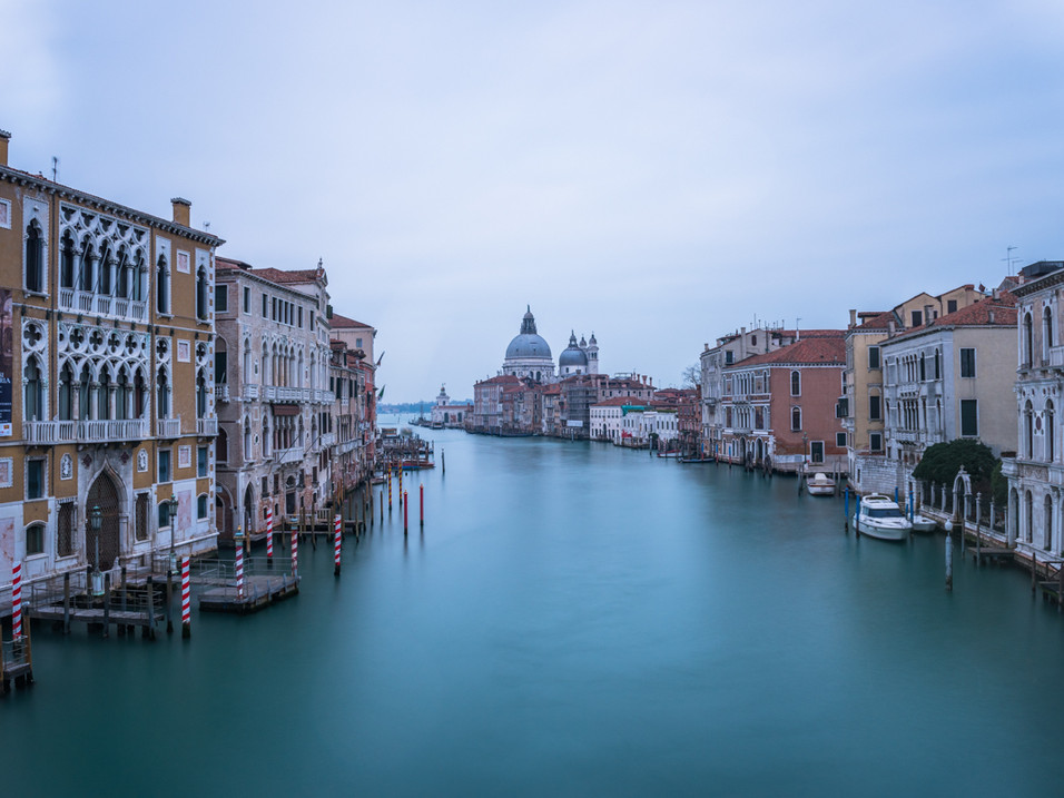The view from Ponte del'Accademia, Venice