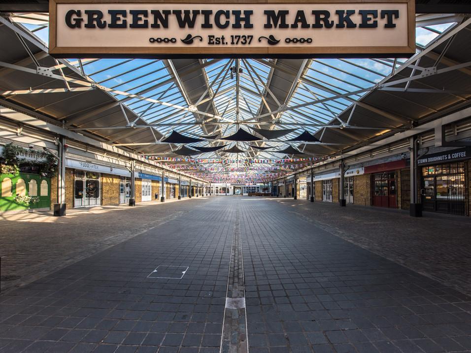 Greenwich Market empty in Lockdown
