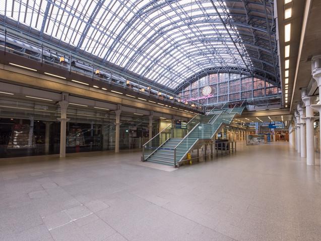 Inside Lockdown Kings Cross Station