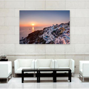 Glass acrylic Oia Sunset