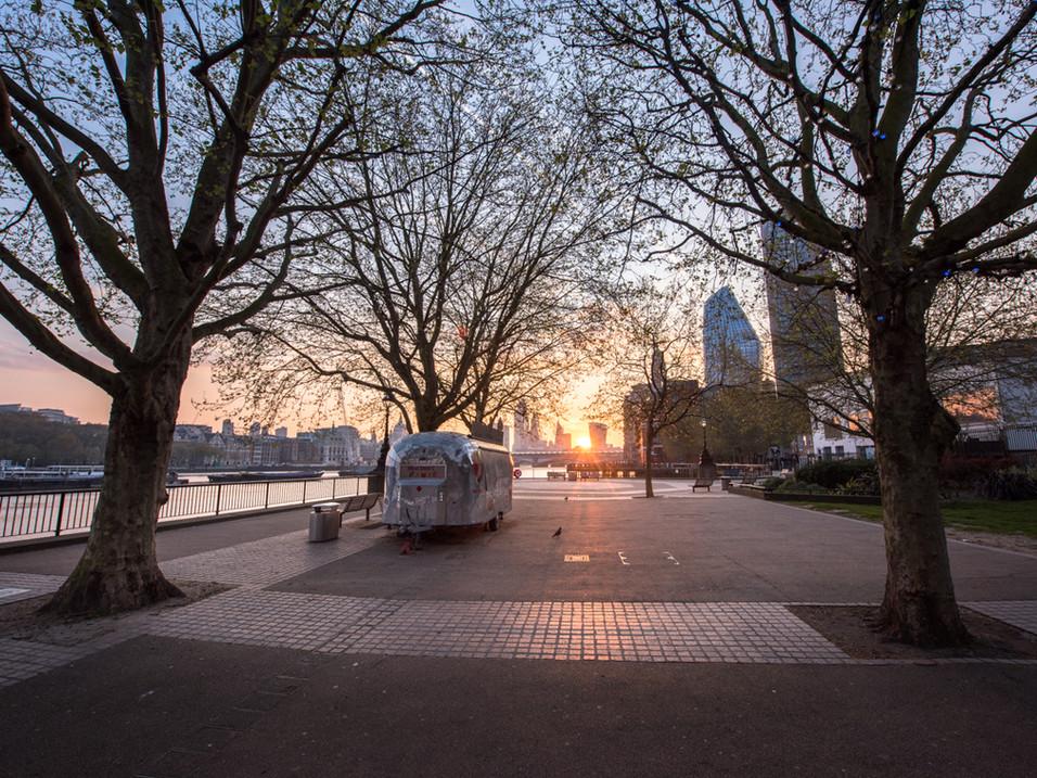 Southbank Lockdown sunrise