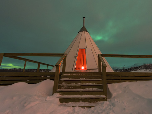 A Swami teepee in Abisko, Sweden