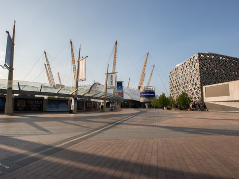 The O2 Arena, Greenwich, during Lockdown