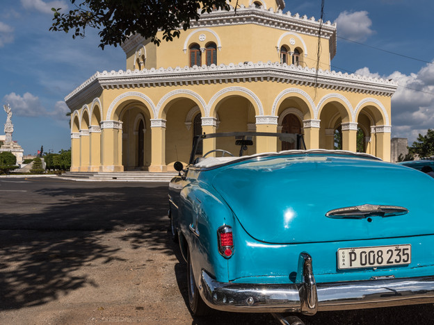Parked in front of the Necropolis de Cristobal Colon, Havana
