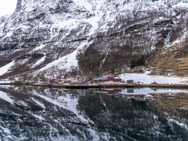 Tiny village in the Norwegian fjords