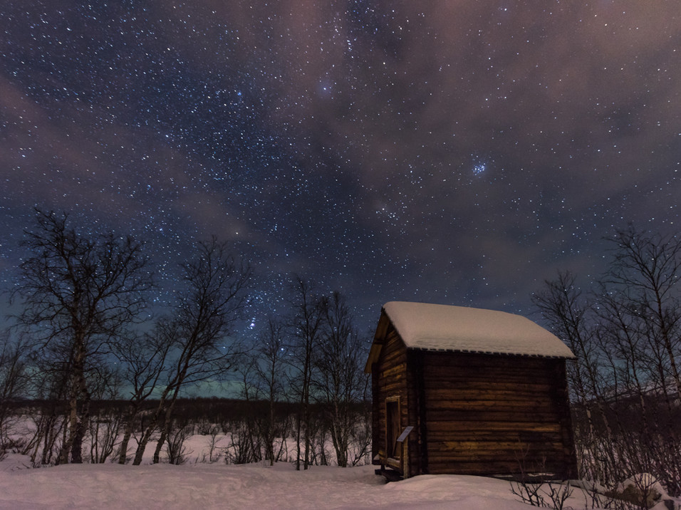 A starry night in Abisko, Sweden