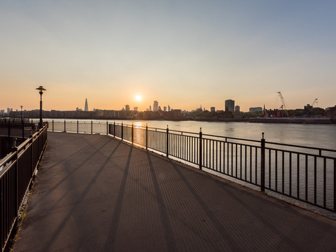 Sunset over the River Thames during Lockdown