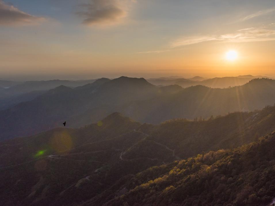 Sun beams over Sequoia National Park.jpg