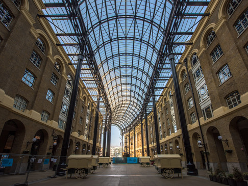 Hays Galleria, London, during Lockdown