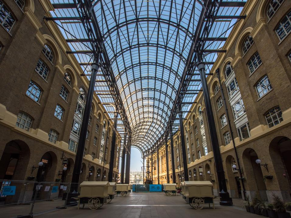 Hays Galleria, London, during Lockdown